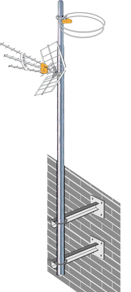 antenski stub zidna montaza televes srbija icp
