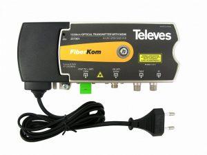Televes ref. 237301 Optički predajnik sa WDM tehnologijom za prenos signala zemaljske i satelitske televizije putem jednog optičkog vlakna, ICP Srbija